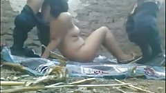 Desi village threesome MMS scandal of local guys with clear audio.MP4